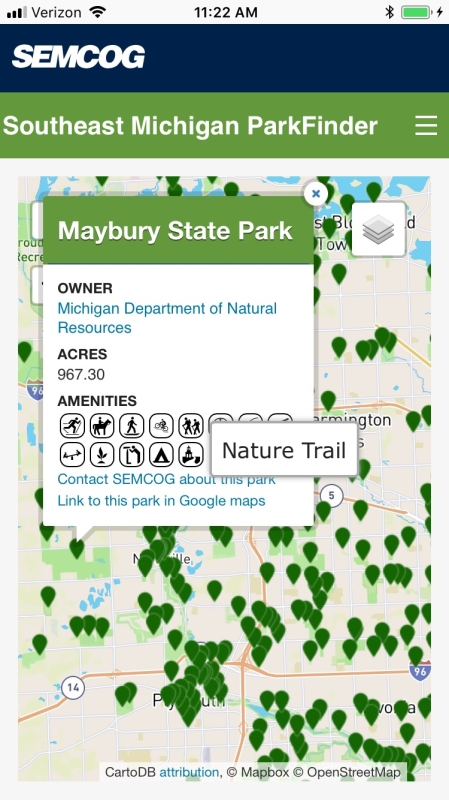 ParkFinder screenshot